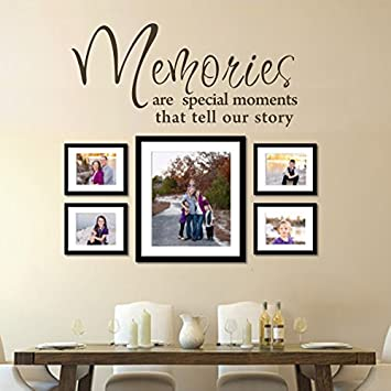 Amazoncom Memories Are Special Moments That Tell Your Story - Custom vinyl stickers for walls