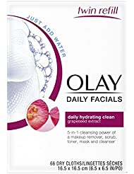 Eye Makeup Remover Wipes by Olay Daily Facials,Cleanser...
