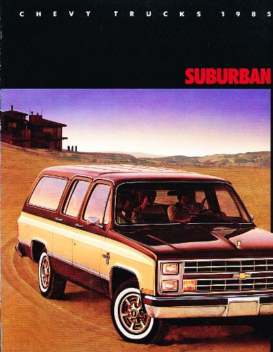 1985 Chevrolet Suburban Truck Original Big Sales Brochure Catalog