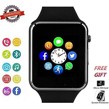 Amazon.com: Smartwatch, Smart Watch with SIM Card Slot Text ...