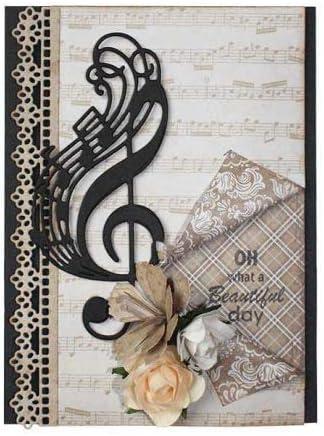 YunTrip Musical Note Metal Cutting Dies for DIY Scrapbooking Album Embossing Photo Craft Paper Cards Decorative Craft Cutting Dies for Card Making