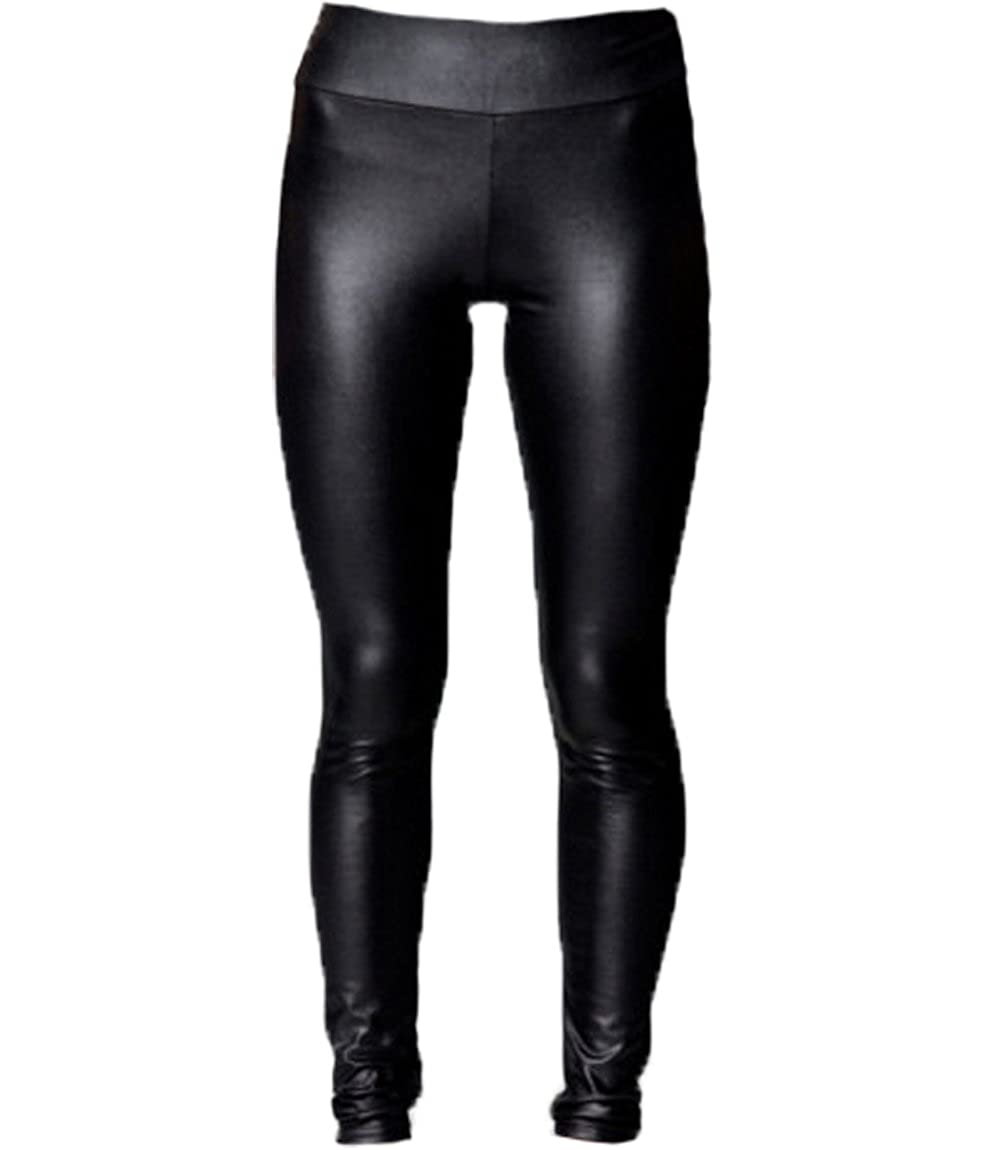 shop for how to get shop A-Express® High Waisted Black Shiny Faux Leather Wet Look Full Length  Leggings