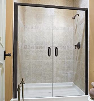 Basco Infinity French Shower Door 1722-RN-CU. 72u0027u0027x24u0026quot; & Basco Infinity French Shower Door 1722-RN-CU. 72u0027u0027x24
