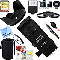 Sigma (589101) 70-200mm f/2.8 APO EX DG HSM OS FLD Zoom Lens for Canon DSLR Camera + 64GB Ultimate Filter & Flash Photography Bundle