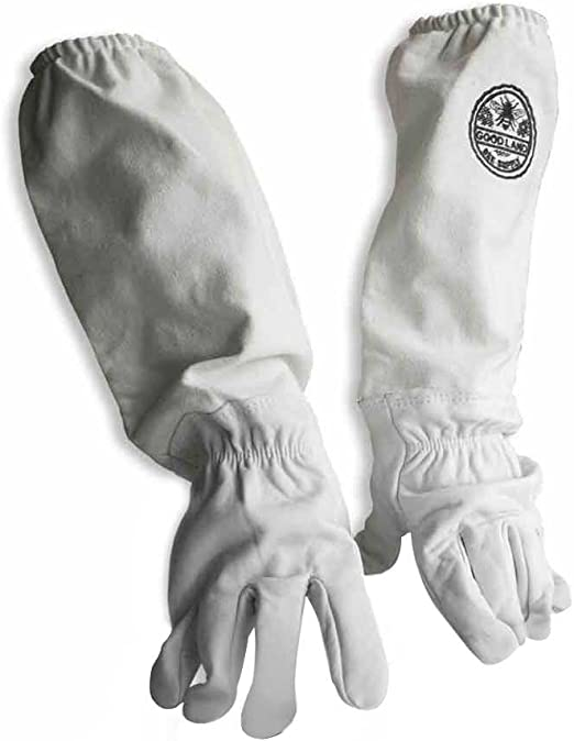 X-Large GOODLAND BEE SUPPLY GL-GLV-XL Sheep Skin Glove with Canvas Sleeve