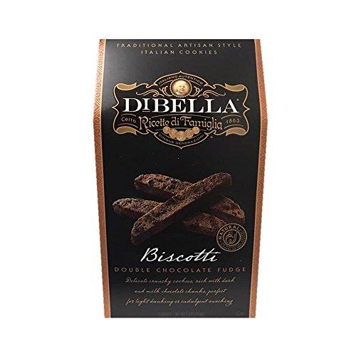 Double Fudge Cookies (Dibella Traditional Artisan Italian Biscotti Cookie 6.6oz (Double Chocolate Fudge))