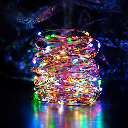 Solar String Lights Multi Color Ankway 200 Led Fairy Lights 3 Strand Copper Wire Light 8 Modes 72 Ft Solar Powered String Lights Waterproof Twinkle Lights For Christmas Tree House Bedroom Outdoor