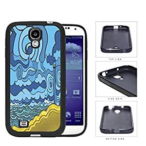 Psychedelic Aqua Seashore Lighthouse Rubber Silicone TPU Cell Phone Case Samsung Galaxy S4 SIV I9500