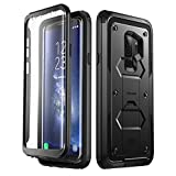 Galaxy S9+ Plus Case, i-Blason [Armorbox V2.0] [Full Body] [Heavy Duty Protection ] [Kickstand] Shock Reduction/Bumper Case with Screen Protector for Samsung Galaxy S9+ Plus (2018 Release) (Black)
