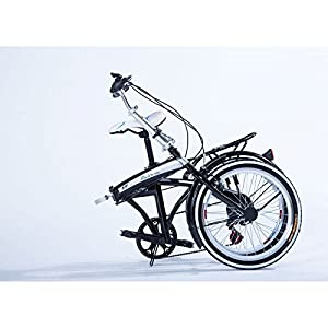 "20"" Light Weight Fast Folding Bike Best Compact Portable Fold-up Bicycle 6-speed White"