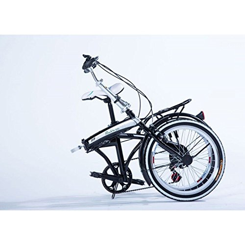 20-Folding-Bicycle-Shimano-6-Speed-Bike-Fold-Storage-Black