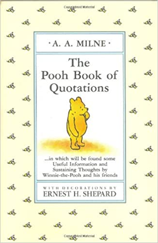 The Pooh Book Of Quotations WinniethePooh Brian Sibley Delectable Quotes About Friendship Winnie The Pooh