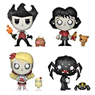 Funko Pop & Buddy: Don't Starve Collectors Set - Wilson with Chester, Willow with Bernie, Wendy with Abigail, Webber with Spider Toy