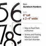 NACH HH-SDW6-BLK Shadow House Address Number