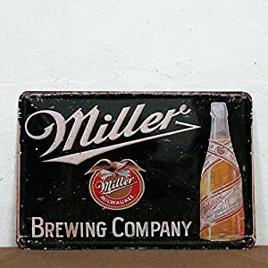Miller Brewing Company Milwaukee Metal Poster Tin Sign Retro Vintage 8*12 Inches695897661924 by 2030 Signs