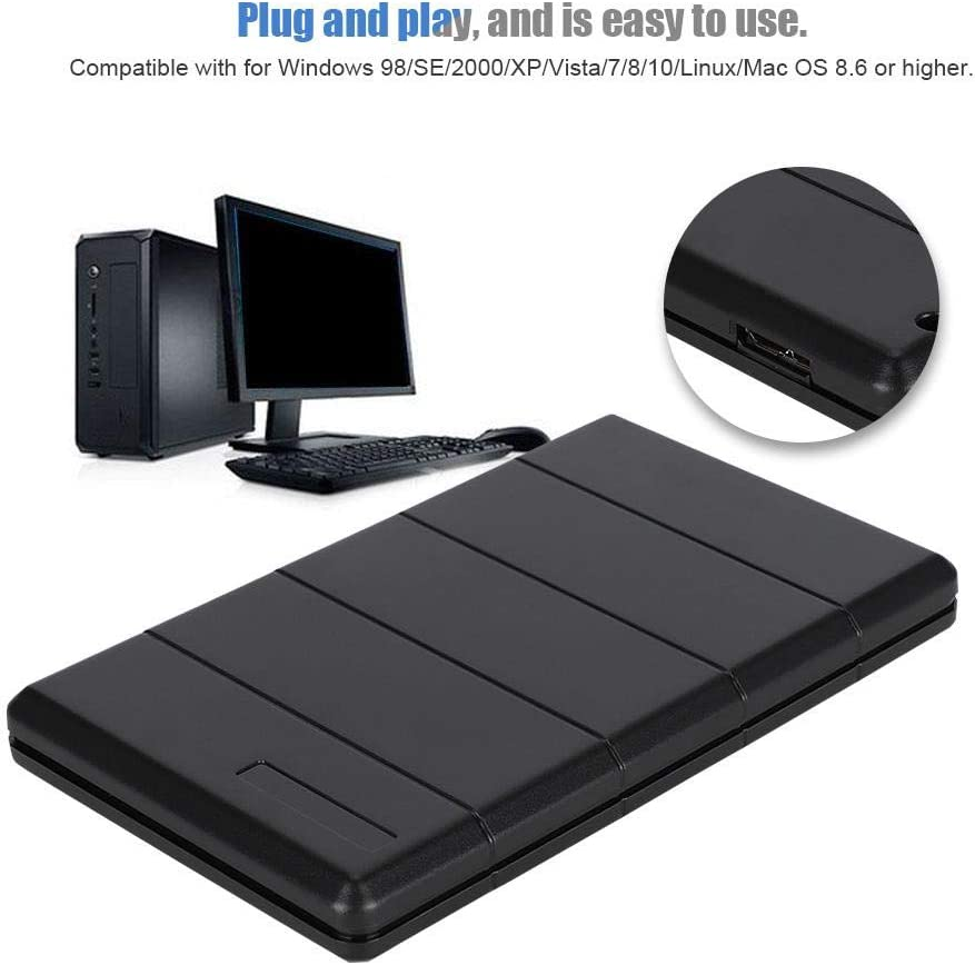 Transparent admite intercambio en Caliente unidad de Disco Duro port/átil USB 3.0 SATA III para Notebook SATA III 2.5 7-9.5mm HDD interno y SSD Plug and Play fo sa Caja HDD externa de 2.5