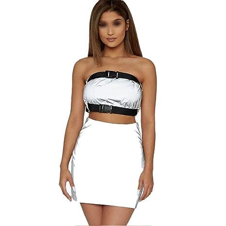 Jxth Chaqueta Clubwear Reflectante para Mujer Traje ...