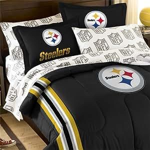 Amazon Com 5pc Nfl Steelers Bedding Set Pittsburgh