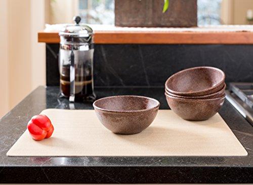 EVO Sustainable Goods 16 oz. Bowl Set, Dark Brown by EVO Sustainable Goods (Image #3)