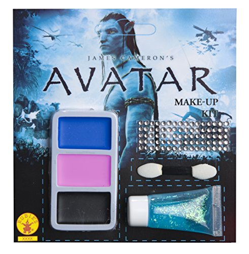Avatar Navi Make Up Kit, Blue, One (Cool Halloween Makeup And Costumes)