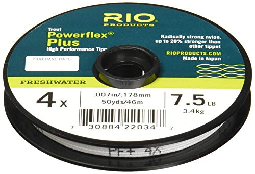 Fluoroflex Plus Tippet - Rio Fly Fishing Tippet Power Flex-Plus 5X-Tippet 50yd Fishing Tackle, Clear