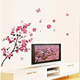 ANBER New Butterfly Cherry Blossom Flower Tree
