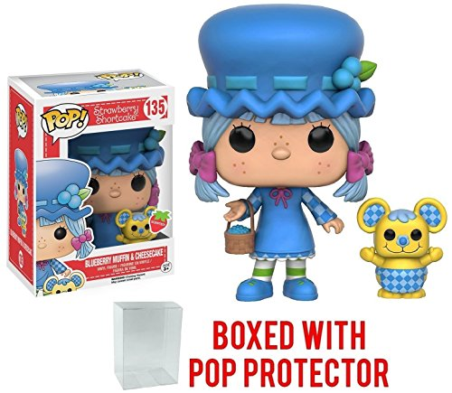 1358bdb9297 Funko Pop! Animation  Strawberry Shortcake - Blueberry Muffin   Cheesecake Vinyl  Figure (Bundled with Pop Box Protector Case) Amazon In-Stock  16.95