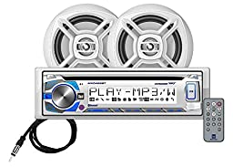 Dual MCP426BT Marine Stereo CD Receiver with Bluetooth, Includes a Pair of 6.5-Inch Speakers