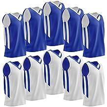 Liberty Imports [10 Pack] Reversible Men's Mesh Athletic Team Basketball Jerseys Sports Bulk