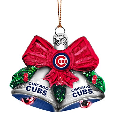 MLB Chicago Cubs Glitter Bells Ornament