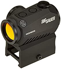 Sig Sauer ROMEO5 compact red dot sights provide civilians and armed professionals a robust 1x aiming solution for any situation. Ultra-low parallax so point-of-aim is point-of-impact and the red dot remains parallel to the bore of your firear...