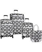 """Ninewest Luggage Super Sign 4 Piece Luggage Set (16""""/20""""/24""""/28"""")"""