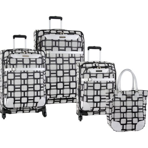 ninewest-luggage-super-sign-4-piece-luggage-set-16-20-24-28-black-grey