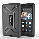 Fire HD 6 Case - Poetic Fire HD 6 Case [Revolution Series] - [Heavy Duty] [Dual Layer] Complete Protection Hybrid Case with Built-In Screen Protector for Amazon Kindle Fire HD 6 Black (3 Year Manufact