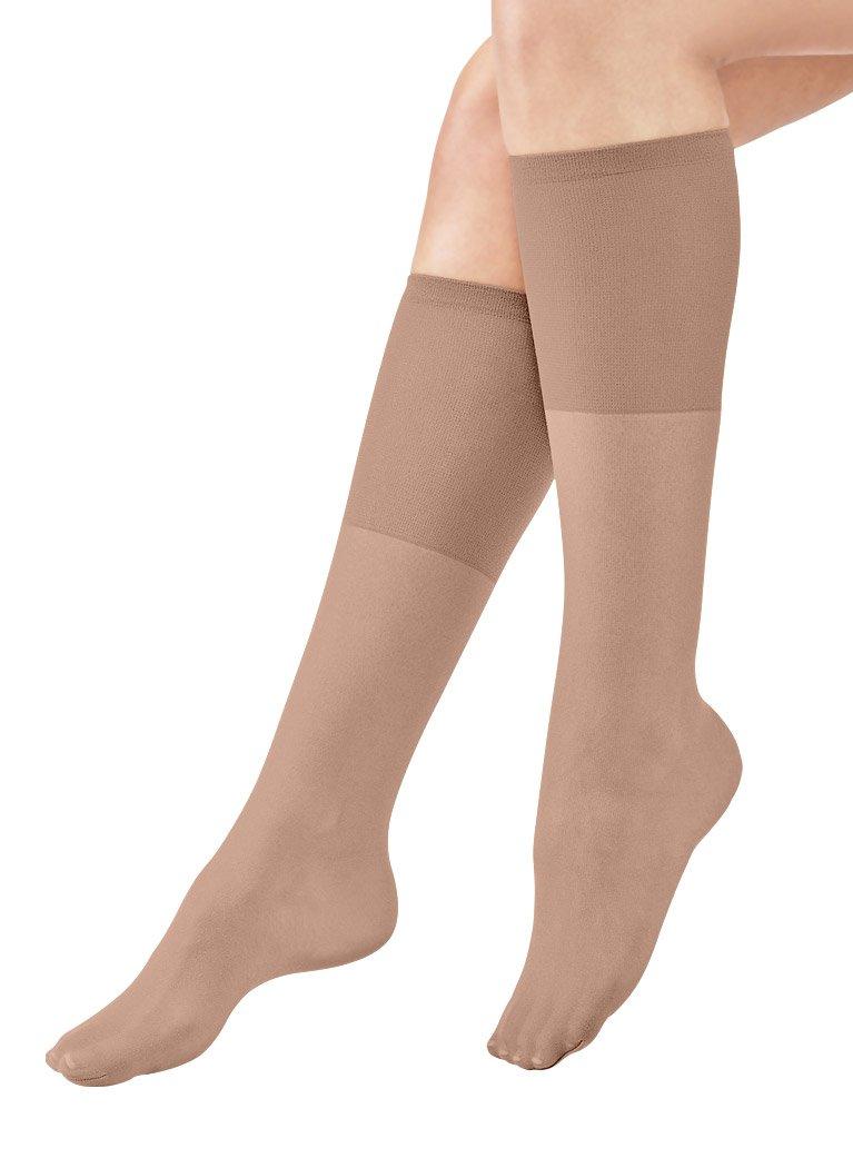 AmeriMark Women's Non-Run Support Knee-Highs Regular/Beige
