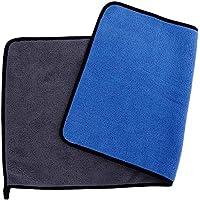 فوطه ميكروفيبر ناعمة متعدده الاغراض أزرق/رمادى 60x30 سم