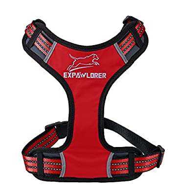 EXPAWLORER Sport Dog Harness for Pulling, Adjustable by YKK Buckle