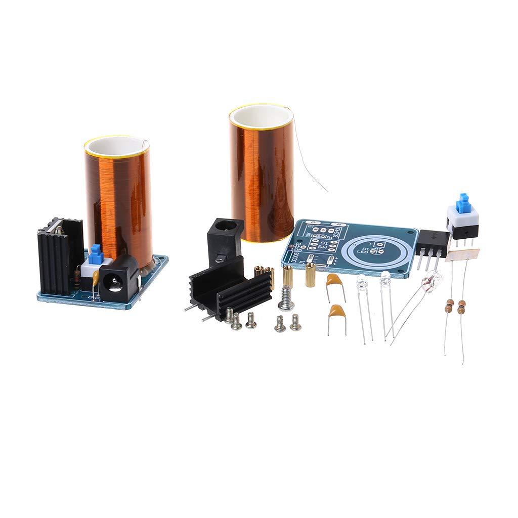 WINJEE,9-12V BD243 Mini Tesla Coil Kit Electronics DIY Parts Wireless Transmission DIY Board Set Type-1