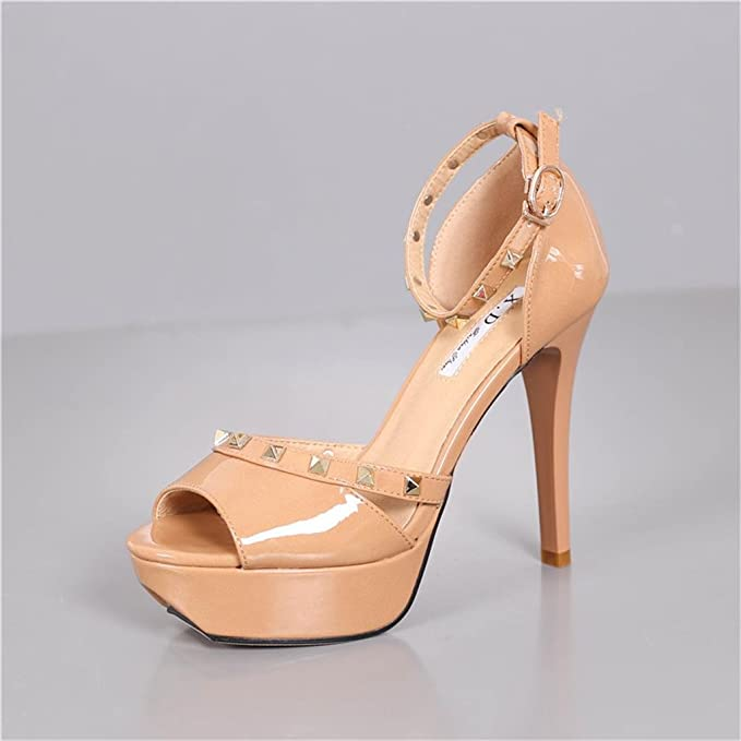 Sandalias de tacón alto de moda impermeable tacones altos ( Color   Camel  color  14aadee31bd1