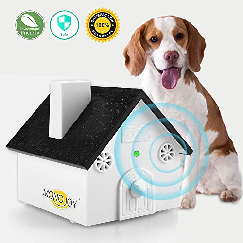 MONOJOY Ultrasonic Dog Bark Deterrent, Sonic Bark Control Outdoor Bark Controller, Dog Anti Barking Device Stop Barking Dogs Silencer Bark breaker, Safety, Friendly, (Stop Dog Bark Ultrasonic)