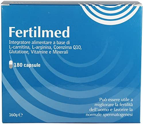 Fertilmed Male Fertility Supplement (Made in Italy) Improving Men's Conception, Quality and Quantity of Sperm.180 Capsules 3 Months Supply
