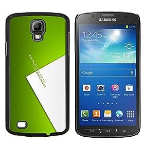 KLONGSHOP // Cubierta de piel con cierre a presión Shell trasero duro de goma Protección Caso - Simplicidad clave para brillianoe - Samsung Galaxy S4 Active i9295 //