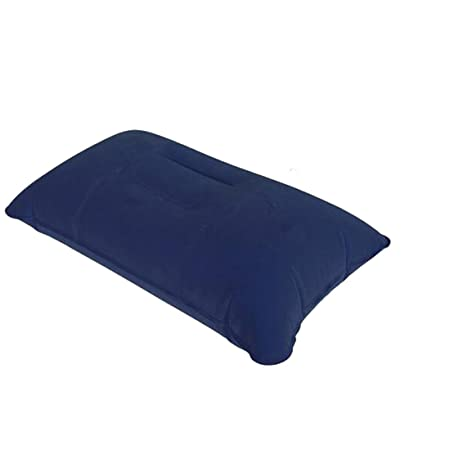 Cojín inflable Almohada de viaje aéreo campamento de la playa de coches Plano principal del resto cama Sleep-Azul Oscuro