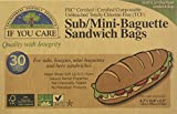 IF YOU CARE Fsc Certified Sub/Mini Baguette Sandwich Bags, 30 Count (Pack of 12)