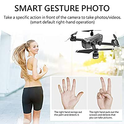 GoolRC KF607 WiFi FPV RC Drone with 4K HD Camera Foldable Drone Optical Flow Positioning Altitude Hold MV Editing RC Quadcopter with 2 Batteries: Toys & Games