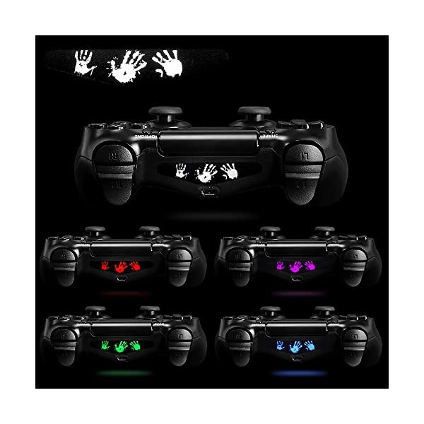 eXtremeRate Light Bar Decal Stickers Set of 30 Different Pcs for PS4 Playstation 4 PS4 PS4 Slim PS4 Pro Controller… 5