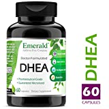 DHEA 50 mg – Helps Balance Hormone Levels for Men & Women, Cognitive Function Support, Increase Metabolism, Promotes Lean Body Mass – Emerald Laboratories (Ultra Botanicals) – 60 Capsules