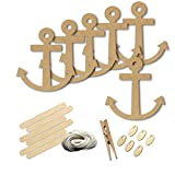 Anchor Boat Boating Ship Style 6188, Wood Shape Craft Kit, 4 Inch Size Kids Project Kit, Great Party, School and DIY