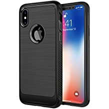 iPhone X Carbon Fiber Case : Best Cases for Apple iPhoneX Cover Keeps i Phone 10 Ultra Thin & Slim Plus Lightweight Black Skin Fit Design With Real Protective Bumper TPU Frame. Protects Back & Screen