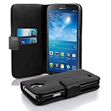 Cadorabo - Book Style Wallet Design for Samsung Galaxy MEGA 6.3 (I9200) with 2 Card Slots and Money Pouch - Etui Case Cover Protection in OXID-BLACK